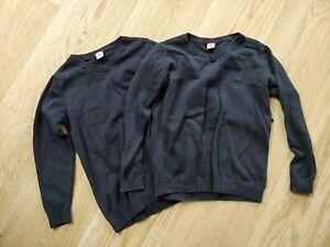 2 X Navy V Neck School jumpers.  Age 7