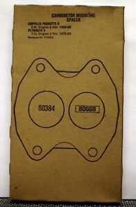 Fel-Pro 60384 Carburetor Mounting Gasket - NOS