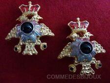 """B.O. """"Double Tête d'Aigle"""" N° 2 doré Couronne - Bijoux Vintage Butler & Wilson"""