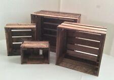 Set of 4 Nesting Box Wood Crates