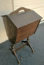 Antique Sewing Cabinet and Stand (with inner removable tray)