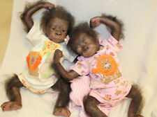 KiWi & PeARL BaBy GoRiLLa TwiNS MADE TO ORDER ~ REBORN DOLL SUPPLIES