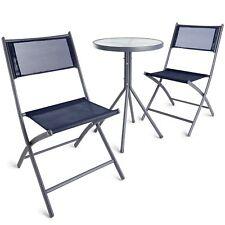 VonHaus Garden Bistro Set 3 Piece Textoline Outdoor Furniture Table and Chairs