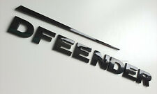 GLOSS BLACK LETTERS FITS DEFENDER LAND ROVER COUNTY 90 110 SWOOSH BACK BADGE
