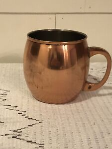 Old Vtg THRESHOLD COPPER PLATED MOSCOW MULE MUG CUP TANKARD