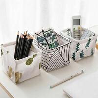 Foldable Storage Box Fabric Small Toy Cosmetic Case Basket Desk Organiser T1Y5