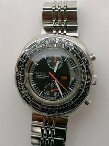 Vintage Seiko 6138  7000 Sliderule Chronograph Automatic- Watch- men's - 1970's