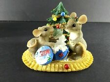 Fitz And Floyd Charming Tails Christmas Treasures Figurine Mice Club.