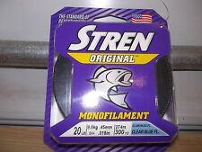 Stren Original fishing line 20 lb test 300 yards clear blue fluorescent NEW
