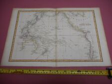 100% ORIGINAL LARGE PACIFIC OCEAN  MAP BY ARROWSMITH C1806 VGC HAND COLOURED