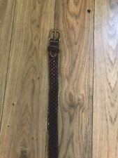 POLO RALPH LAUREN BELT , SIZE 36-38 Waist 100cm, BROWN Braided