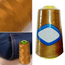 2000m Thick Polyester Thread Upholstry Jeans Denim Button Sew Craft Gold