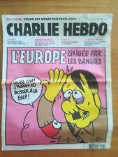 CHARLIE HEBDO N° 1013 - 16/11/2011 - L'Europe dirigée par les banques - Charb