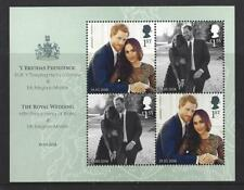 GREAT BRITAIN 2018 THE ROYAL WEDDING PRINCE HARRY, MEGHAN MARKLE MINIATURE SHEET