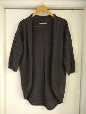 Rubbish Cable Knit Gray Cardigan Size Medium EUC