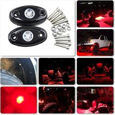 4 pcs 9W Red LED Rock Light for Jeep Wrangler ATV Truck Under Trail Rig Lights