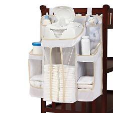 Diaper Organizer Caddy Wipes Storage Nursery Stacker White Baby Dex