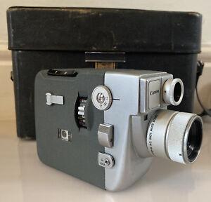 Vintage Canon Motor Zoom 8EEE 8mm Cine Film Camera WORKING & Case & Instructions