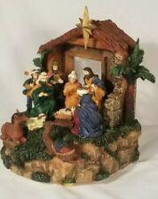 Cracker Barrel 1999 Musical Music box Light Up Nativity Narration in box