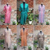 Lot of Vintage Silk Saree Kimono Indian Vintage Silk Sari Recycle Night Robe 02