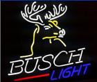 """New Busch Light Deer Stag Buck Head 17""""x14"""" Lamp Neon Sign Real Glass Handmade"""