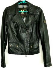 Women's Belstaff Gold Label Motorcycle Jacket Italy Size 42 US Size 8 small COAT