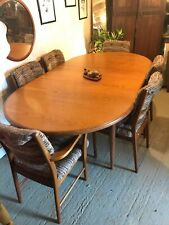 Retro G Plan Table 6 Chairs Carvers Teak 1970's Extending Macintosh Large Family