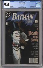 BATMAN #429 CGC 9.4 WPGS BOOK 4 OF 4 LTD SERIES DEATH IN THE FAMILY SUPERMAN APP