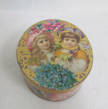 Wooden Trinket Box Fairy Cat Girls Flowers Gold Vintage Handmade Decoupage