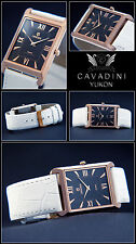 längliche-hübsche- IP-Rose Gold Plated Cavadini Designer Unisex Watch NEW