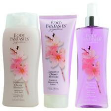 Body Fantasies Japanese Cherry Blossom Body Spray 8 oz & Body Lotion 7 oz & Body