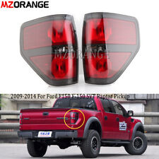 2009-2014 For Ford F-150 SVT Raptor Pickup w/Black Trim Tail Light Brake Lamps