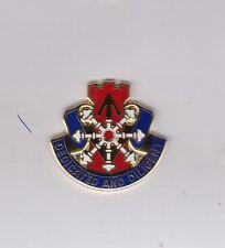 US Army 111th Engineer Battalion DUI crest c/b clutchback badge G-23