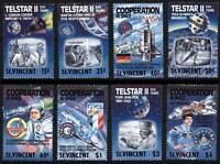 ST.VINCENT 1989 EUROPA/USA/Russia in SPACE SC#1163-70 MNH CV$10.00 APOLLO-SOYUZ