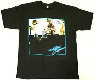 EAGLES T-shirt Hotel California Classic Rock Band Men's 100% Cotton Tee New