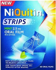 Niquitin Oral Film Strips Mint 2.5mg (60 Pack) 2.5mg Nicotine Oral Films