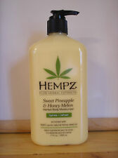 Hempz SWEET PINEAPPLE & HONEY MELON Herbal Daily Moisturizer Lotion 17 Oz Bottle