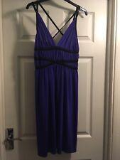 River Island Size 12 Purple Knee Length Party Dress