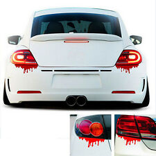 Red Blood Car Stickers Reflective Car Decals Light Bumper  Body Sticker ATAU
