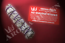 AQ Smudge Stick - SMALL CALIFORNIA WHITE SAGE 12-13cm Long Style + Inst Card