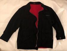 VINTAGE MARLBORO WOOL BLEND REVERSIBLE MENS Coat Jacket RED BLACK Size M