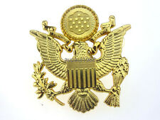 WWII US ARMY OFFICER CAP EAGLE BADGE INSIGNIA HAT  CAP BADGE PIN INSIGNIA