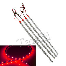 NEW 4 X High Power Car Motor Flexible LED Light Strip Waterproof  30cm 12V -Red