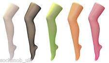 Ladies Coloured Tights One Size Pot Luck 5 Pairs C033.Q