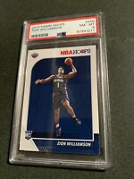 2019 Panini Hoops #258 Zion Williamson RC Rookie Pelicans PSA 8