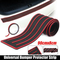 90cm Trunk Rear Bumper Sill Body Guard Protector Rubber Plate Trim Cover Strip