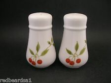 Noritake Progression Vintage China Berries N Such Salt Pepper Shakers 9070 c1970