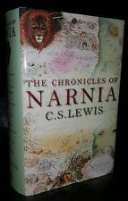 The Chronicles of Narnia, CS Lewis, ill. Pauline Baynes Collins 1998 1st Ed HBDJ