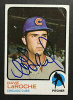 Dave LaRoche Cubs Signed 1973 Topps baseball card #426 Auto Autograph