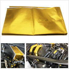 "39""x47"" Universal Car SUV Exhaust Golden Self Adhesive Reflect Heat Wrap Barrier"